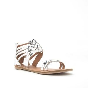 Moving Sale! Silver Metallic Gladiator Sandal